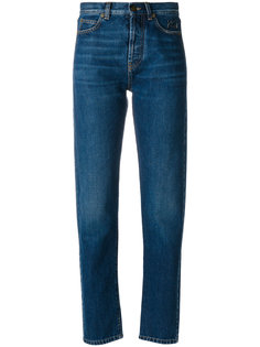 джинсы с вышитым логотипом Saint Laurent
