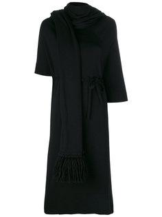 длинное платье с шарфом Maison Margiela
