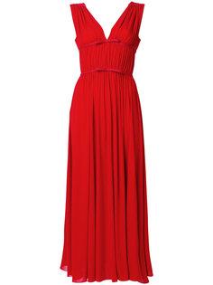 приталенное платье с глубоким V-образным вырезом Giambattista Valli