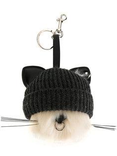 брелок для ключей в виде кошки в шапке Stella McCartney
