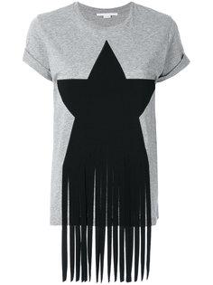 футболка со звездой и бахромой Stella McCartney