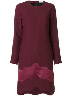 асимметричное платье с высоким воротником  Carven