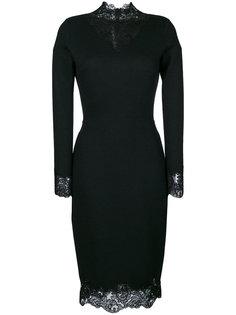 приталенное платье с кружевной оторочкой Ermanno Scervino
