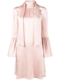 платье-мини с воротником-шарфом Fendi