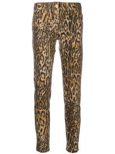 брюки кроя скинни с леопардовым принтом Blumarine