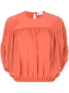 укороченная блузка с дизайном со сборкой Red Valentino