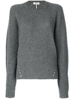 вязаный свитер с ребристой фактурой MSGM