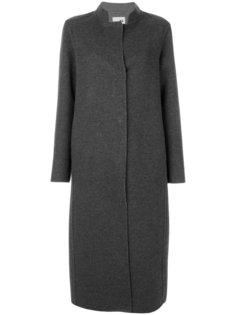 длинное пальто с контрастными лацканами  Manzoni 24