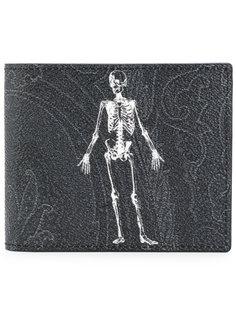 кошелек с изображением скелета Etro