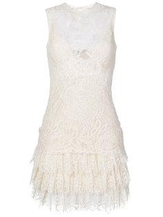 многослойное кружевное платье мини  Ermanno Scervino