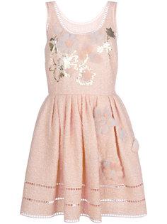 приталенное платье с аппликацией Fendi