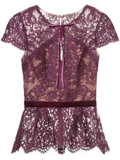 кружевная блузка с баской Marchesa Notte