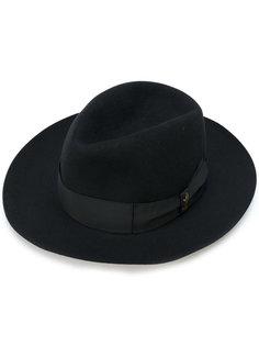 шляпа-федора с лентой в тон Borsalino