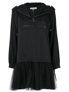 тюлевое платье-толстовка  Moschino