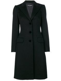 классическое однобортное пальто Dolce & Gabbana