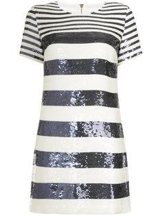 платье в полоску с пайетками Veronica Beard