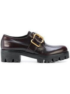 туфли со шнуровкой и пряжками Prada