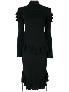 платье с оборками Dsquared2