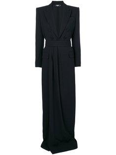 длинное платье-жакет строгого кроя Dsquared2