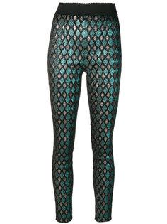 эластичные жаккардовые брюки металлик Dolce & Gabbana