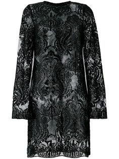 короткое платье с отделкой пайетками Iil7