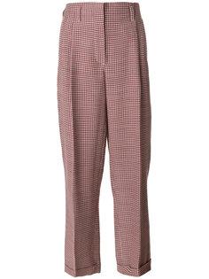 брюки с завышенной талией и узором  Giorgio Armani