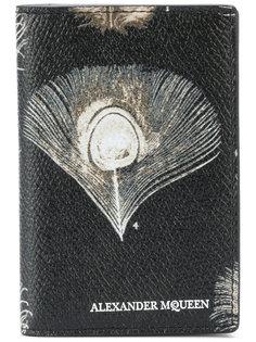 кошелек с павлиньим пером  Alexander McQueen