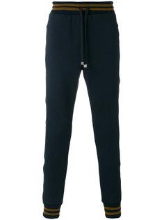 спортивные штаны с металлизированной отделкой Dolce & Gabbana