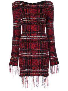твидовое платье мини  Balmain