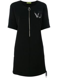 платье-футболка на молнии Versace Jeans