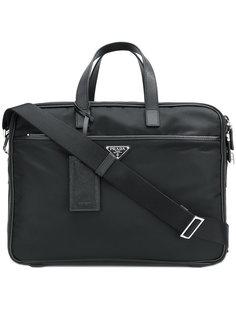 портфель на молнии Prada