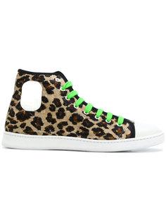 бархатные кеды с леопардовым принтом Marc Jacobs