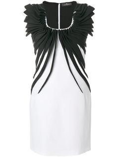 платье мини с присборенной отделкой  Capucci