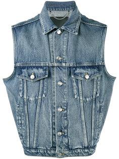 джинсовая жилетка Balenciaga