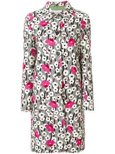 пальто с цветочным принтом  Valentino