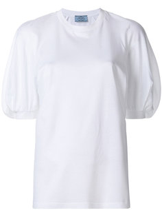 блузка с пышными рукавами  Prada