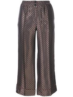 укороченные жаккардовые брюки Erika Cavallini