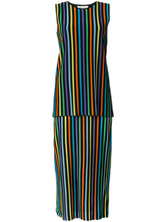 многослойное платье в полоску Dvf Diane Von Furstenberg