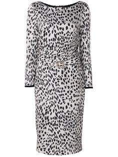 платье с леопардовым принтом  Roberto Cavalli