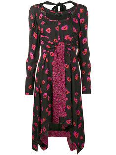 платье с длинными рукавами и цветочным принтом  Proenza Schouler