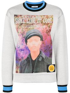 свитер с круглым вырез Poster Girl Prada
