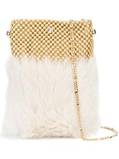 сумка для телефона из кроличьего меха Laura B