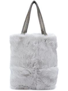 сумка на плечо из кроличьего меха на цепочке Laura B