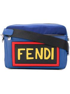 сумка на плечо с заплаткой с логотипом Fendi