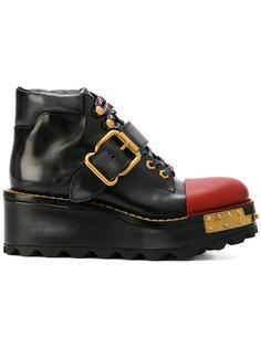 ботинки на платформе Prada