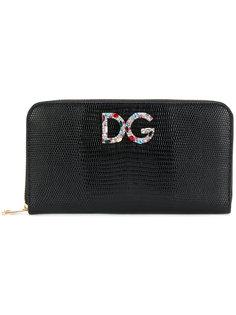 кошелек с круговой молнией и логотипом Dolce & Gabbana