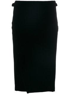 бархатная юбка с запахом  Tom Ford