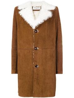 пальто с меховой отделкой Saint Laurent