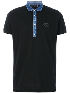джинсовая футболка-поло Dsquared2
