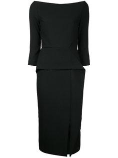 приталенное платье с приспущенными плечами Roland Mouret